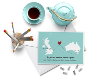 Wedding Gift Ideas For Distant Friends : Long distance card Etsy