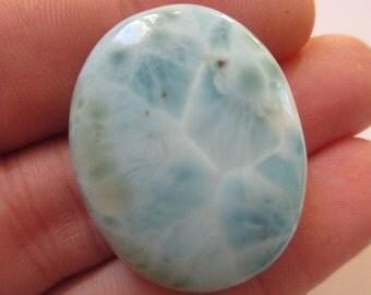 Larimar Cabochon 34mmX27mm Natural Gemstone Mineral Stone N.243A