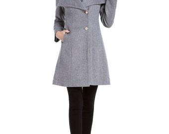 Gray Jacket Wool Womens Winter Coats