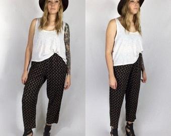 Ditsy Floral Printed Rayon HAREM PANTS Soft Pants Size Small/Medium