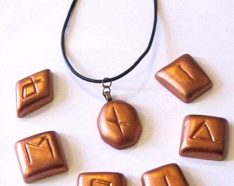 Rune necklace, Rune jewelry, Gift for her, Gift for him, Valentine gift, Rune pendant, Pagan necklace, Wiccan necklace, Amulet, Runes Occult