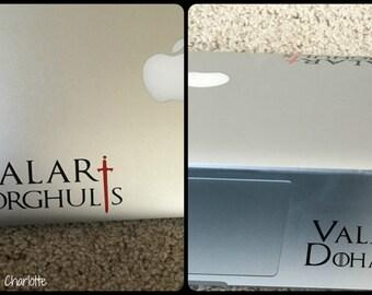 Valar Morghulis & Valar Dohaeris Game of Thrones Vinyl Decals