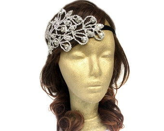Silver Leaf Headband, Boho Headband, Leaf Hair Piece, Boho Wedding Headpiece, Bohemian Hair Accessories, Hair Band, Costume, Adult, Teen