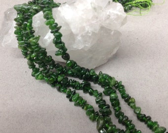Chrome Diopside chips  6-7mm 32""