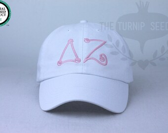 Delta Zeta Baseball Cap - Marbles - Custom Color Hat and Embroidery.