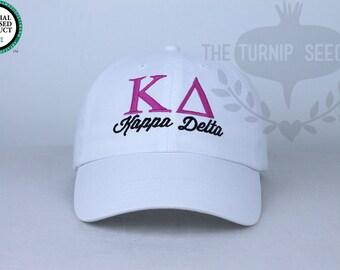 Kappa Delta Sorority Baseball Cap - Custom Color Hat and Embroidery.