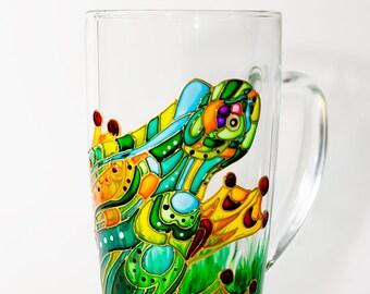 Frog Art Coffee Mug, Funny Gift Mug Frog Cup, Hostess gift Name Coffee Mug