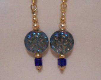 Light Blue Glass Earrings Item No. 159