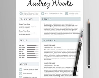 Résumé Template Instant Download // Template No. 8 // Creative CV & Cover Letter // Modern Professional Resume // MS Word