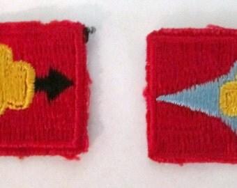 "Set of Two (2) Vintage Girl Scout Junior ""Signs"" Badges"