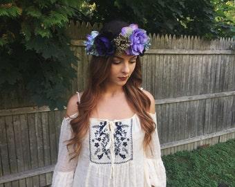 Oversized Vibrant Flower Crown
