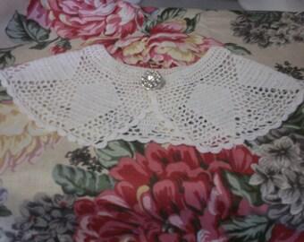 Hand-Crochet Lace Collar