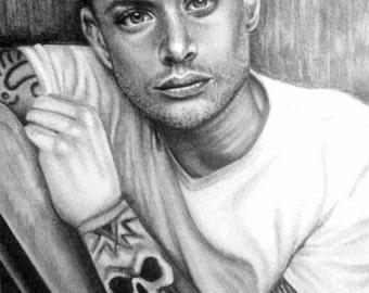 Original pencil sketch -Jenson Ackles