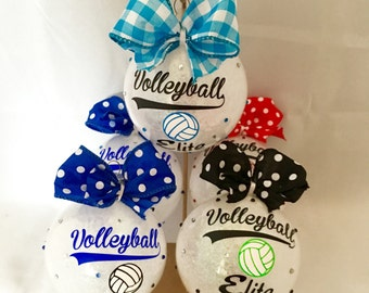 Christmas ornament, Personalized Christmas ornament, Volleyball, Personalized volleyball ornament, team ornament, ornament gift