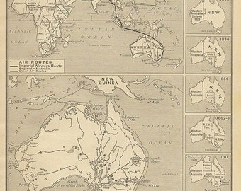 Political Map Of Australia Atlas Antique Map Australian - Australia detailed map