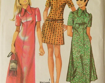 Vintage 1970 Sewing Pattern Simplicity 9030 Junior