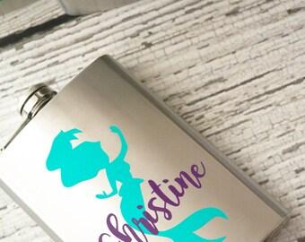 Personalized Mermaid Flask - 8oz