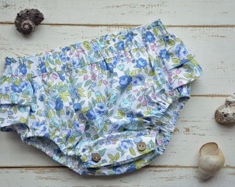 Baby Bloomers, Floral Cotton Fabric