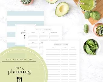 Meal Planning Binder Kit PDF - A Printable PDF