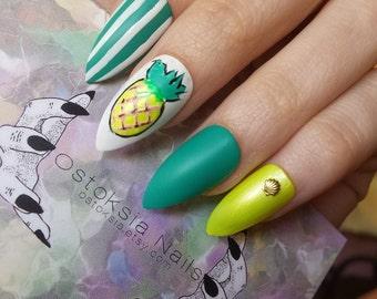 Tropical Summer - Press on Nails
