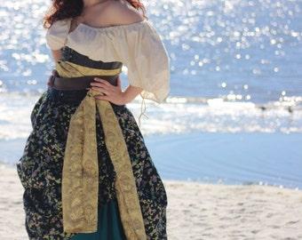 Linen Skirt - 14 Colors Options - Wench, Pirate, Princess, Renaissance, Medieval, Cosplay, LARP, Faire, Steampunk, Queen