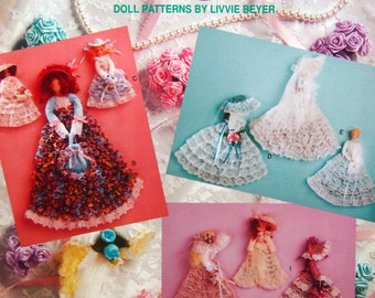 Brooms And Lace Doll Patterns By Livvie Beyer Vintage Craft Pattern Leaflet 1992