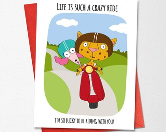 funny wedding card life is such a crazy ride funny love card anniversary