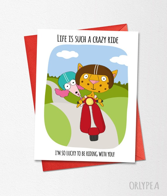 Funny Wedding Card Life Is Such A Crazy Ride Love