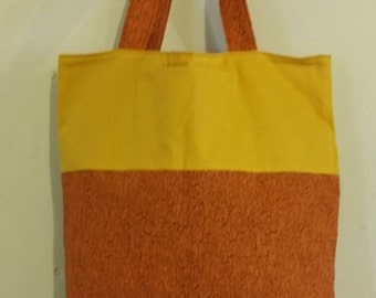 Orange and Gold Totebag