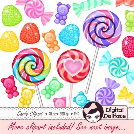 Rainbow Candy Clipart Sweet Shop Birthday Candy Clip Art