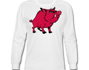 Razorback Hog Long Sleeve T-Shirt for Arkansas Razorbacks Fans!