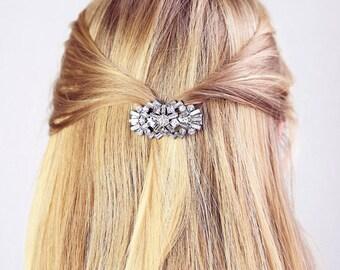 Hair clip, bridal hair clip, bridal hair accessory, crystal hair clip, retro hair clip, hair accessories, statement hair clip