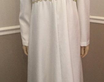 Handmade Greek style wedding Dress / Large