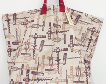 Canvas Bag: Corkscews, washable