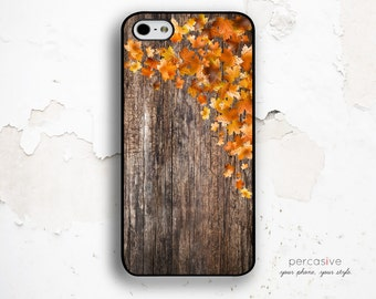 iPhone 6 Case Fall Leaves - iPhone 6 Plus Case Wood Print, Fall iPhone 5c Case, Leaf iPhone 6 Plus Case, Autumn Leaves iPhone 6 Case :1036