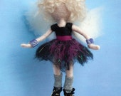 Needle felted punk goth angel fairy decoration *READY TO SHIP*