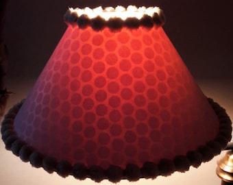 Two Polka Dot Pom-Pom lamp Shades