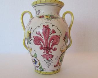 Vintage Vase Portugal, Fleur de Lis Vase