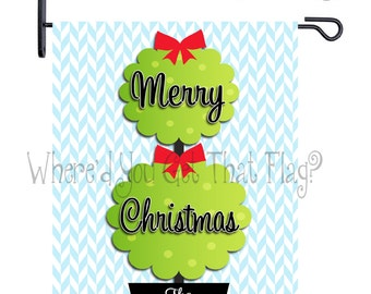 Custom Personalized Garden Sign Christmas Topiary