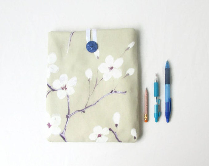 Blossom print IPad case, 10 inch tablet case, handmade in the UK