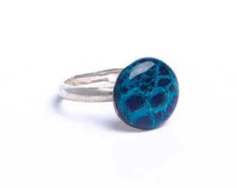 Bague bleu turquoise - Argent 925
