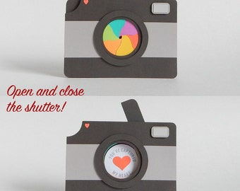 Cute Love Card - Photographer Gift - Anniversary Card - Camera Card - Love Cards - Gifts for Photographer