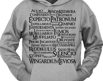 Magic Spells Harry Potter Geek Parody Unisex Pullover Hoodie Sweatshirt