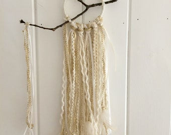 Small dream catcher - creams and gold