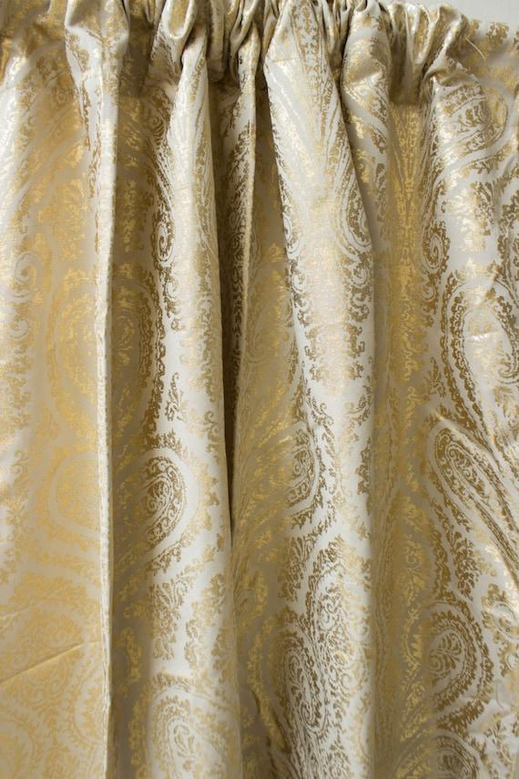 gold moroccan damask window curtain panels custom curtains 44 63 84