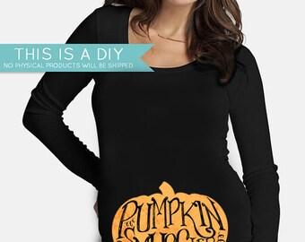 Halloween Maternity Shirt Pumpkin Smuggler Iron Transfer INSTANT DOWNLOAD