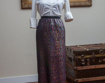 Sequin Midi Pencil Skirt