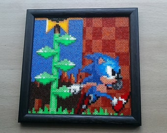 Sonic The Hedgehog Framed picture. Sega! Retro!! Megadrive! Genesis!