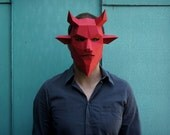 Devil Mask - make your own from recycled card
