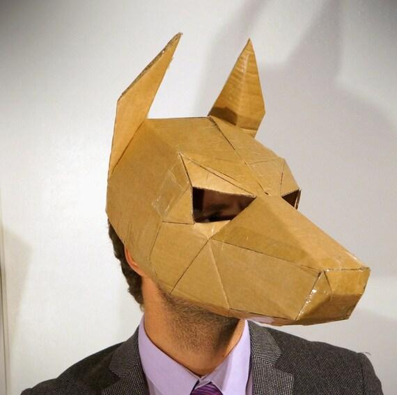 Como hace una mascara 3d de perro doberman dog mask make - Como hacer una mascara ...